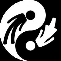both genders in yin-yang symbol