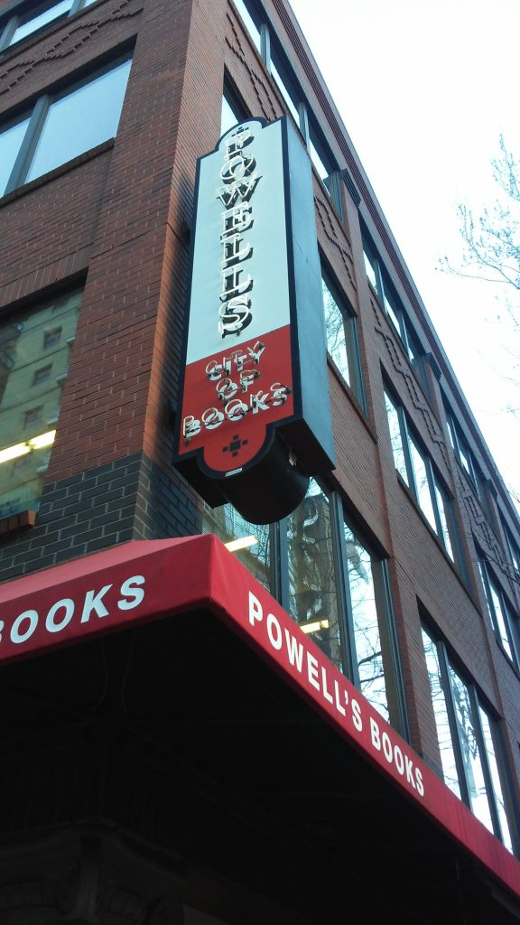 Powell's Book Store signage, Portland, Oregon